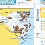 Mapa interativo de Santa Catarina