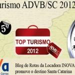 Blog de Rotas recebe hoje o prêmio Top Turismo ADVB