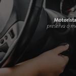 Motorista inteligente preserva o meio ambiente.