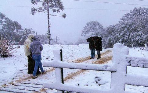 Frio, temperatura baixa e neve em Santa Catarina